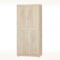 橡木色3X6尺鞋櫃(隔板六片)