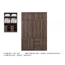 凱爾 5.4 X 8尺灰橡色衣櫥/衣櫃