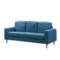 日向藍色三人布沙發