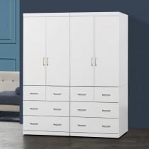 阿諾德 5.4 X 7尺白色衣櫥/衣櫃