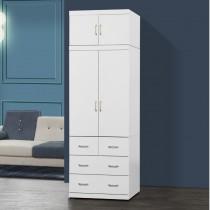 阿諾德 2.7 X 8尺白色衣櫥/衣櫃
