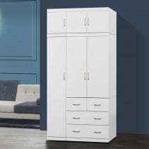 阿諾德 4 X 8尺白色衣櫥/衣櫃