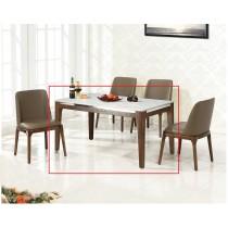 A43水曲柳實木4.6尺餐桌