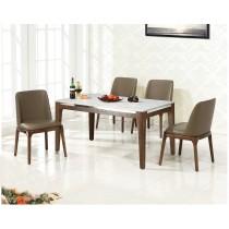 A43水曲柳實木4.6尺餐桌椅(1桌4椅)