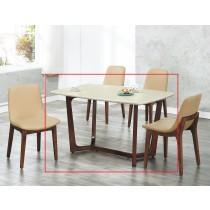 A49水曲柳實木4.6尺餐桌