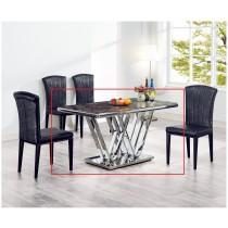 (C188-2)4.6尺石紋玻璃餐桌