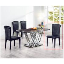 307黑皮餐椅(單只)