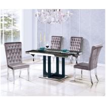 (T070)4.6尺白鐵餐桌椅(1桌4椅)