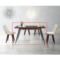(A88)4.5尺黑玻餐桌