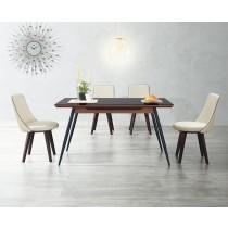 (A88)4.5尺黑玻餐桌椅(1桌4椅)