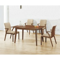 (A73)4.6尺實木餐桌椅(1桌4椅)