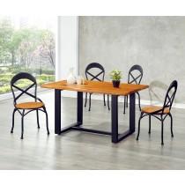 (T11)4.5尺實木自然邊餐桌椅(1桌4椅)