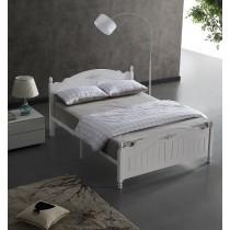 卡斯5尺白色雙人鐵床