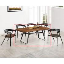 (T26)5.3尺實木休閒餐桌