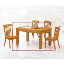 (135-7)4.5尺實木餐桌