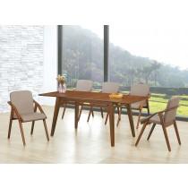 (EDT87)拉合實木長方餐桌椅(1桌6椅)