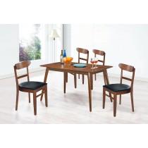 (SA56)4.3尺長方餐桌椅(1桌4椅)