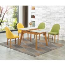 (L030)拉合實木餐桌椅(1桌4椅)