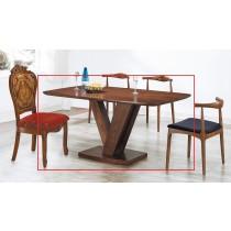 (A71)全實木5.3尺餐桌