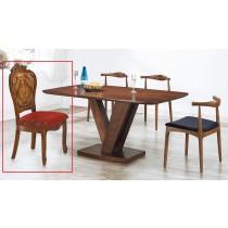 627柚木色全實木餐椅(單只)