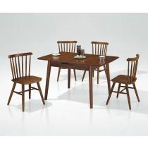 H-869折合實木餐桌(1桌4椅)