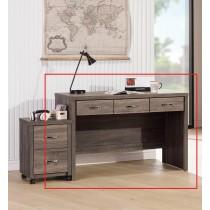 亞瑟鋼刷4尺三抽書桌(不含活動櫃)