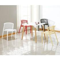 624條紋椅(白)(單只)