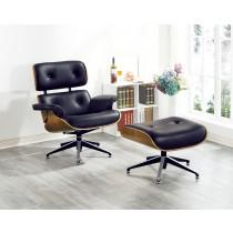 3102休閒椅+腳椅(牛皮)