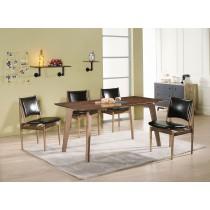 上野5.3尺實木餐桌椅(J06)(1桌4椅)