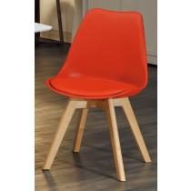 1636休閒椅(皮坐墊)(紅)(單只)