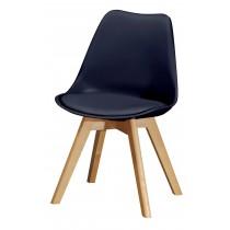 1636休閒椅(皮坐墊)(黑)(單只)