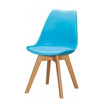 1636休閒椅(皮坐墊)(藍)(單只)