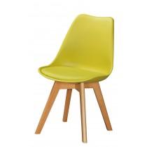 1636休閒椅(皮坐墊)(綠)(單只)