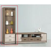 艾妮雅雙色2尺展示櫃(不含電視櫃)