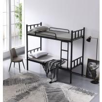 摩爾黑色3尺鐵雙層床