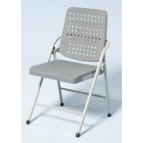 白宮灰色塑鋼合椅