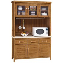 愛莉絲柚木4.2尺石面餐櫃(碗盤櫃組)