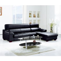 凱西L型皮沙發