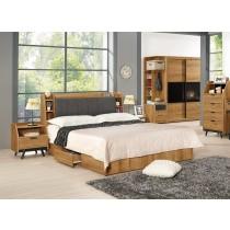 摩德納6尺床頭箱式雙人床