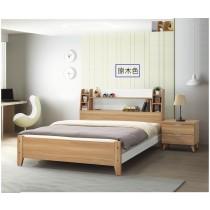 艾尼5尺原木色雙人床(共兩色)