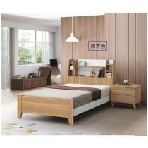 艾尼3.5尺原木色單人床(共兩色)