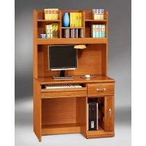 希爾達樟木色實木3.2尺電腦桌(全組)
