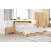 波里斯6尺被櫥式雙人床(含床底)(不含床頭櫃)