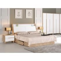 伯妮斯5尺床頭箱式雙人床