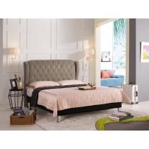 多娜達6尺雙人床(駝色皮)