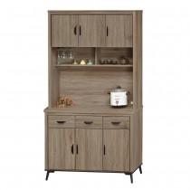 灰橡4尺餐櫃(全組)(B631+B631-1)