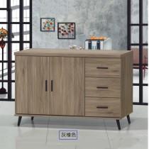 灰橡4尺耐磨餐櫃/碗盤櫃(6028)(共兩色)