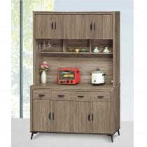 灰橡5尺餐櫃(全組)(B632+632-2)