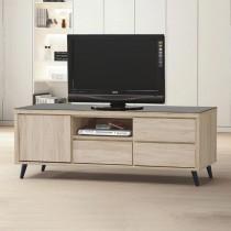 寶雅橡木4尺玻璃電視櫃/長櫃(184)