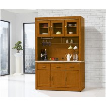 卡洛斯柚木色4.2尺石面餐櫃